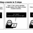 no time 4 sleep: writing a movie in 3 steps