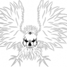 Skull Art: Winged Beast