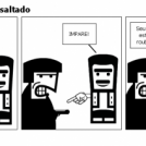 Portugues sendo assaltado