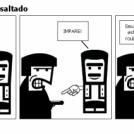 Portugues sendo assaltado