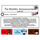 The Monthly Announcement: June