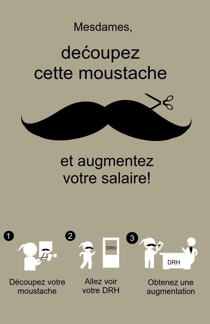 Découpez cette moustache.