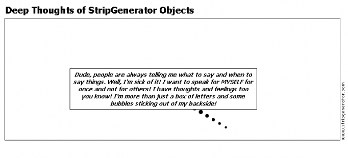 Deep Thoughts of StripGenerator Objects
