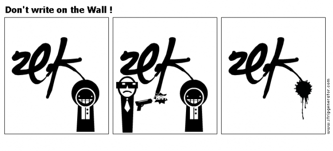 Don't write on the Wall !
