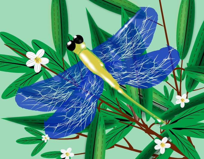La libélula vaga de una vaga ilusión