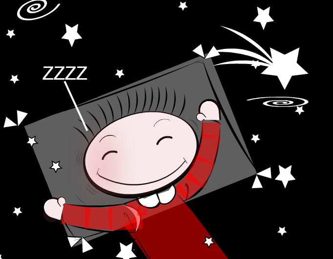Sleeping Schanulleke makes a wish- Sketch