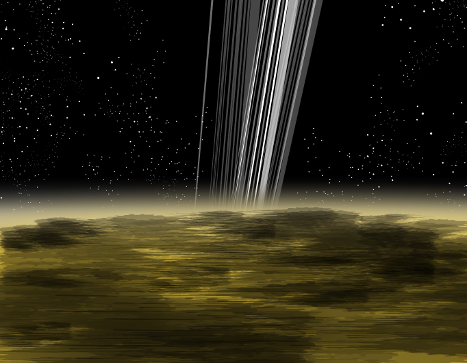 Cassini--below the rings