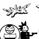 4 gangsters mot en snut
