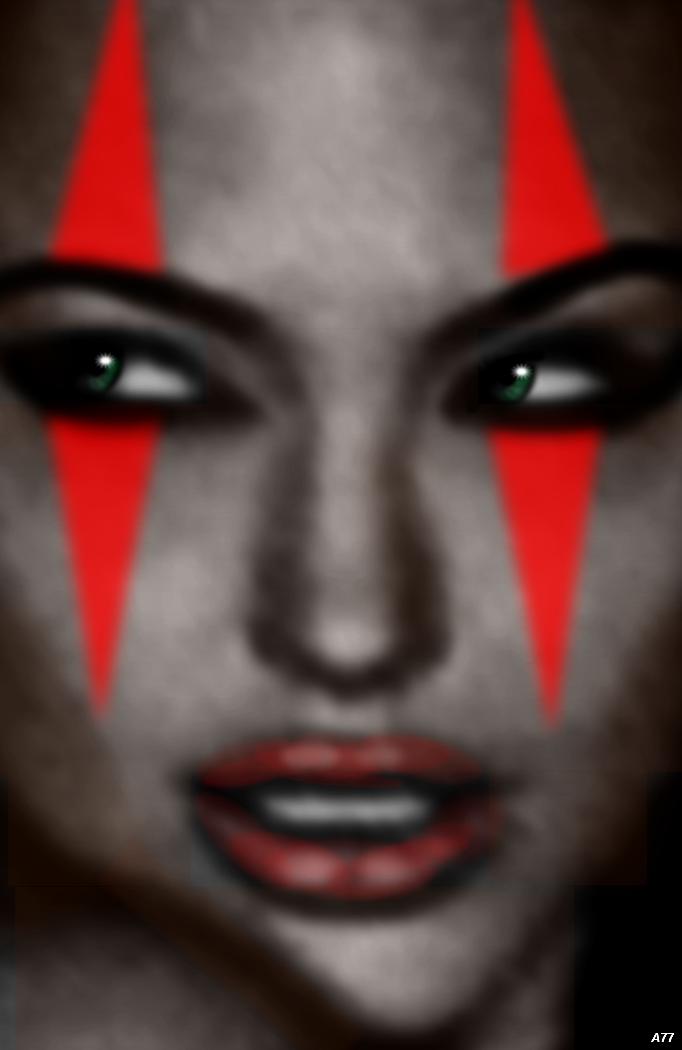 Harley Quinn's Demonic Eyes