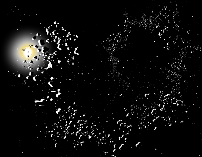 Asteroids occluding the sun