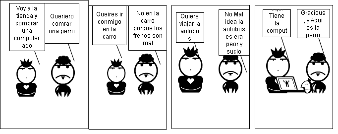 Spanish story comic strip
