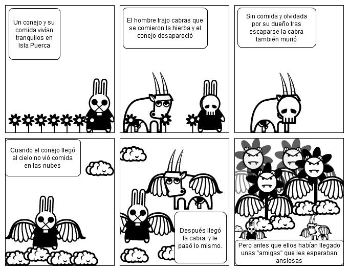 La parábola del conejo, la cabra y las flores