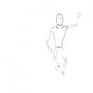 Sketch of human figure
