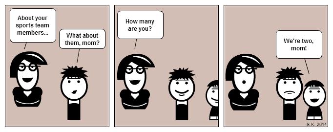 Kid cartoon: Do the math, mom!