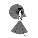 Parasol Girl: A Study in Triangles