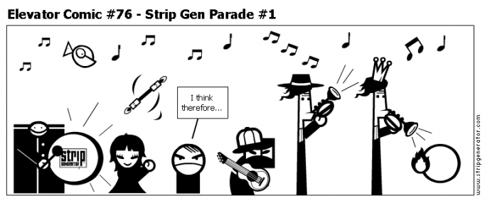 Elevator Comic #76 - Strip Gen Parade #1