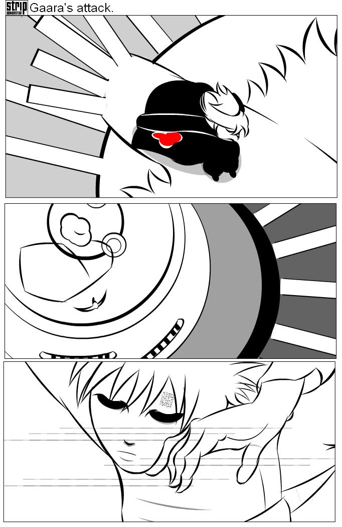 Gaara's attack.