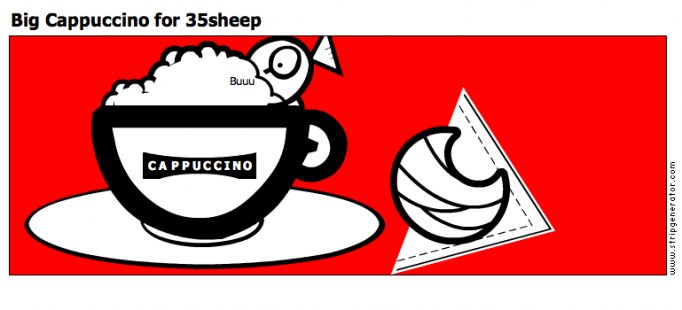 Big Cappuccino for 35sheep