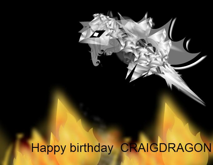 Happy birthday Craigdragon
