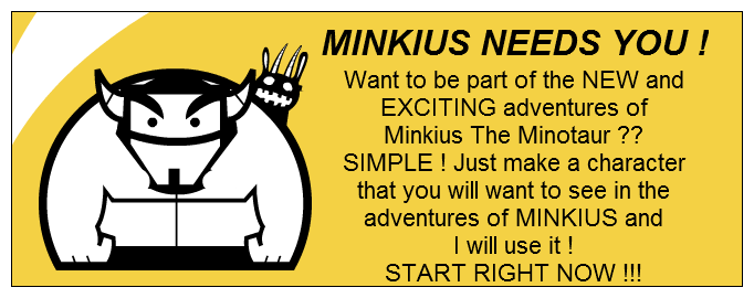 MINKIUS NEEDS YOU !