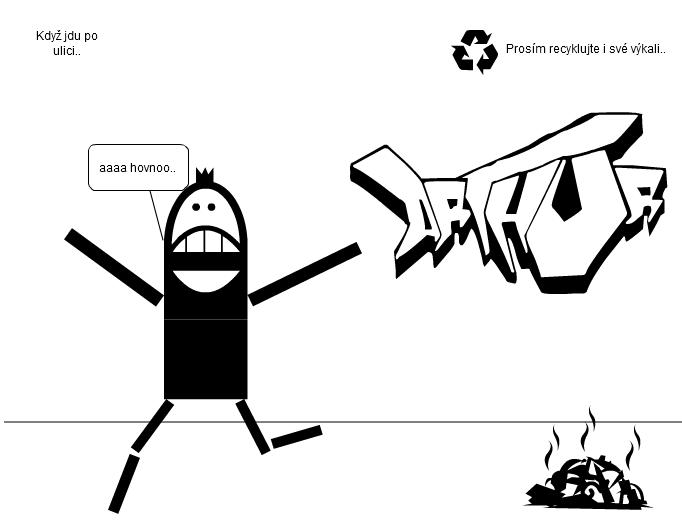 recyklace hovna