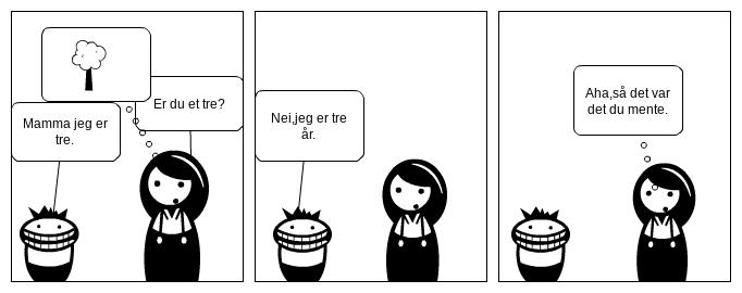 Et tre.Norwegian