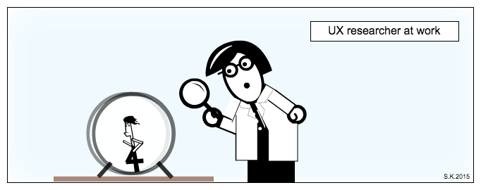 UX comic: UX researcher at work