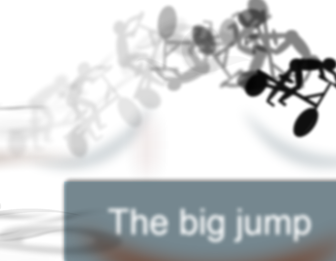 The big jump-bikers