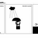 Sedia payung sebelum...