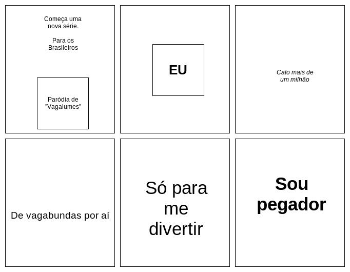 Para os Brasileiros: Paródia de Vagalumes-Pollo