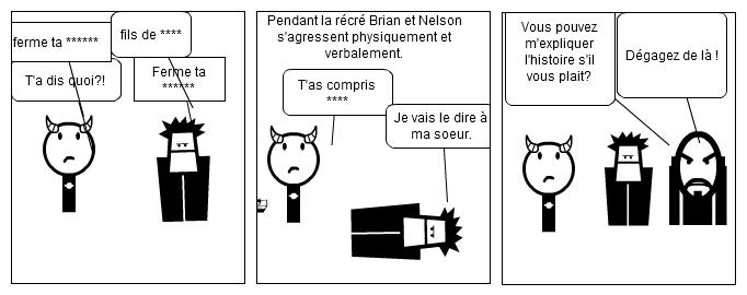 La bagarre de Brian et Nelson