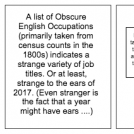 Obscure Occupations