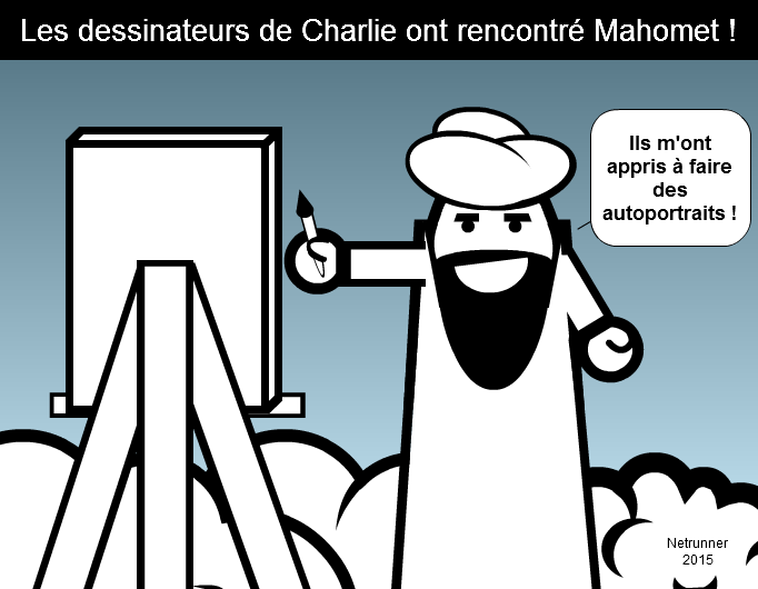 Charlie Hebdo's cartoonists has met Mohammed !