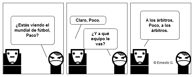 Paco y Poco sobre el mundial de fútbol