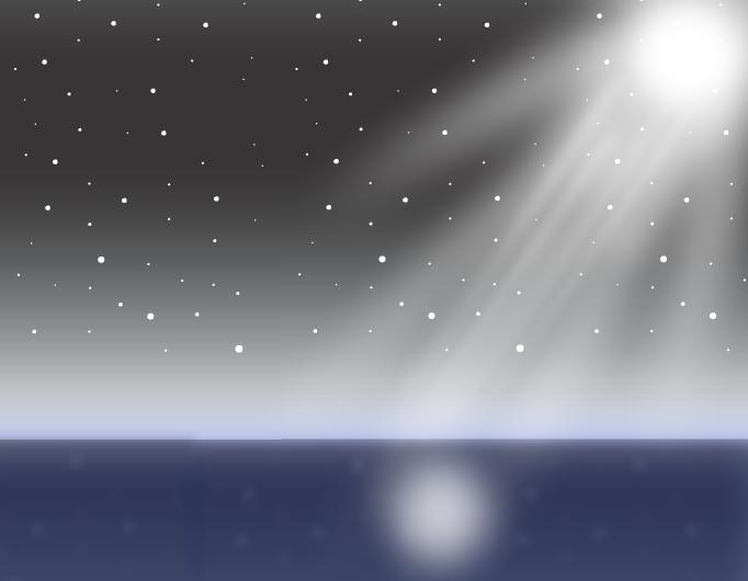 Midnight ocean