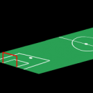 The soccer field