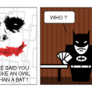 Joker jokes again