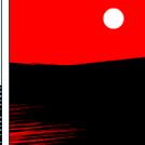 Three simplistic landscapes