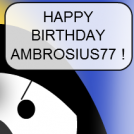 Happy birthday Ambrosius77 !