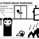 Dracula teaches a friend about hedonism