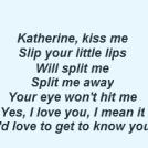Katherine Kiss Me