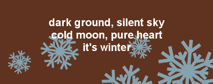 Winter thought