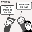Opinions vs user research