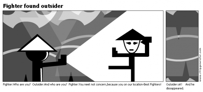 Fighter found outsider