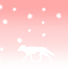 Pink winter landscape