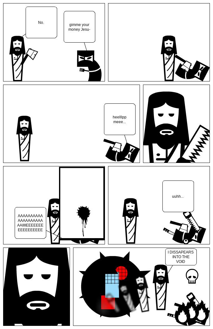 Jesus Embraces The Void