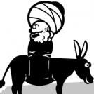 Why are you riding on the donkey backwards?