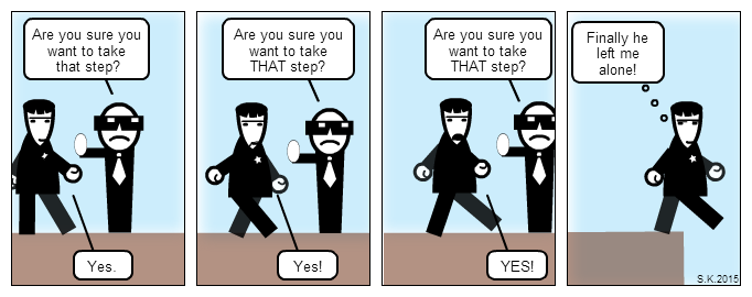 UX comic: If people behaved like bad user interfaces -part1