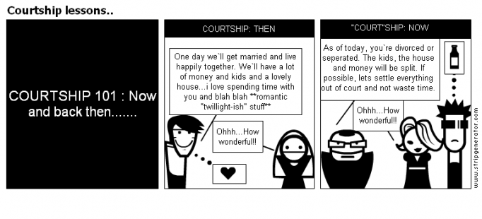 Courtship lessons..