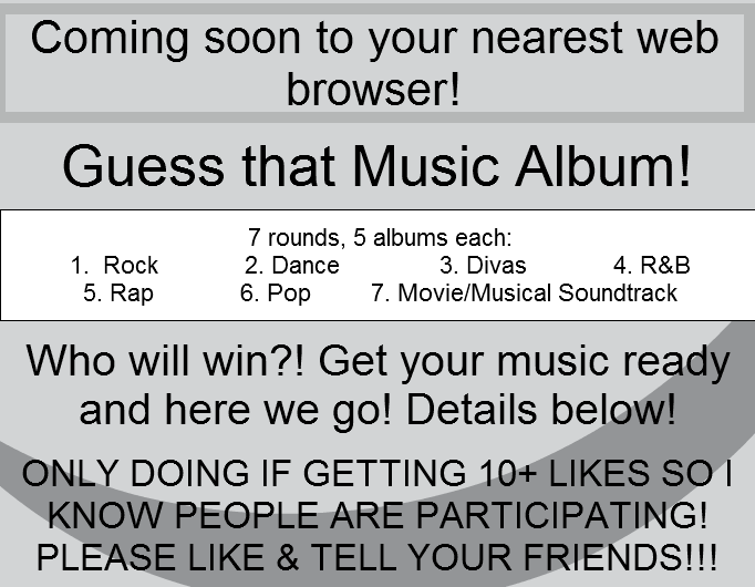 Guess That Music Album! - ONLY IF 10+ LIKES!